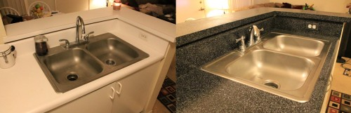 The sink Before and After